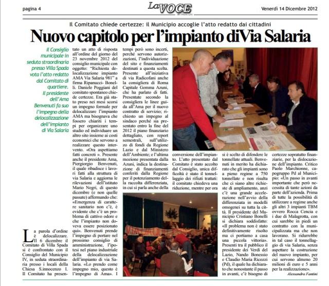 Nuovo capitolo per l'impianto di Via Salaria.