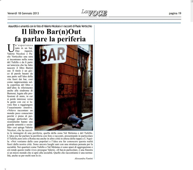 Il libro Bar(n)Out fa parlare la periferia.